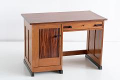 J J Buskes J J Buskes Art Deco Desk in Oak and Macassar Ebony Netherlands 1925 - 1497203