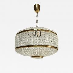 J L Lobmeyr Austrian Brass and Glass Chandelier by J L Lobmeyr - 576747