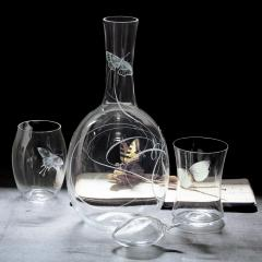 J L Lobmeyr Concave Drinking Set No 279 Engraved DOF by Ted Muehling - 1587150