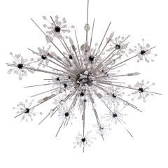 J L Lobmeyr J L Lobmeyr Starburst Chandelier In Chrome With Cut Crystals 2008 - 1209319