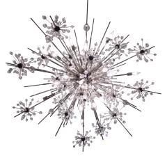 J L Lobmeyr J L Lobmeyr Starburst Chandelier In Chrome With Cut Crystals 2008 - 1209321