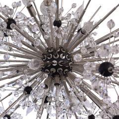 J L Lobmeyr J L Lobmeyr Starburst Chandelier In Chrome With Cut Crystals 2008 - 1209322