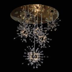 J L Lobmeyr Metropolitan Sputnik Cascade Chandelier by Hans Harald Rath - 1921277