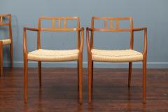 J L M llers M belfabrik Scandinavian Modern Niels O Moller Model 79 Dining Chairs - 1152979