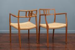 J L M llers M belfabrik Scandinavian Modern Niels O Moller Model 79 Dining Chairs - 1152982
