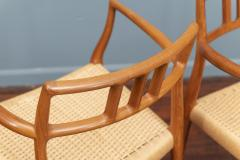 J L M llers M belfabrik Scandinavian Modern Niels O Moller Model 79 Dining Chairs - 1152989