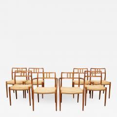 J L M llers M belfabrik Scandinavian Modern Niels O Moller Model 79 Dining Chairs - 1153379
