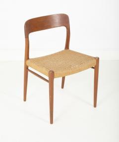 J L M llers M belfabrik Set Of Eight Danish Cord Seat Dining Chairs - 1826352