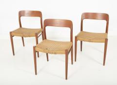 J L M llers M belfabrik Set Of Eight Danish Cord Seat Dining Chairs - 1826353