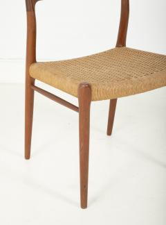 J L M llers M belfabrik Set Of Eight Danish Cord Seat Dining Chairs - 1826357