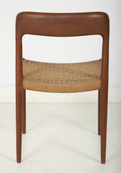 J L M llers M belfabrik Set Of Eight Danish Cord Seat Dining Chairs - 1826358
