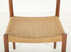 J L M llers M belfabrik Set Of Eight Danish Cord Seat Dining Chairs - 1826359