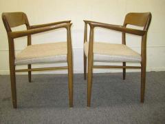 J L M llers M belfabrik Wonderful Set of Six J L Moller Teak Dining Chairs Danish Mid Century Modern - 1843412
