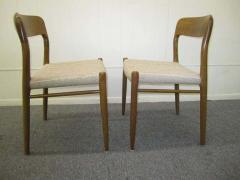 J L M llers M belfabrik Wonderful Set of Six J L Moller Teak Dining Chairs Danish Mid Century Modern - 1843413