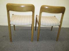 J L M llers M belfabrik Wonderful Set of Six J L Moller Teak Dining Chairs Danish Mid Century Modern - 1843414