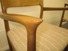 J L M llers M belfabrik Wonderful Set of Six J L Moller Teak Dining Chairs Danish Mid Century Modern - 1843419