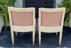 J Robert Scott Art Deco Style Sally Sirkin Lewis J Robert Scott Slipper Chairs a Pair - 2067857