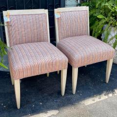 J Robert Scott Art Deco Style Sally Sirkin Lewis J Robert Scott Slipper Chairs a Pair - 2067858