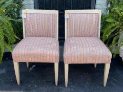 J Robert Scott Art Deco Style Sally Sirkin Lewis J Robert Scott Slipper Chairs a Pair - 2067859