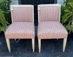 J Robert Scott Art Deco Style Sally Sirkin Lewis J Robert Scott Slipper Chairs a Pair - 2067860