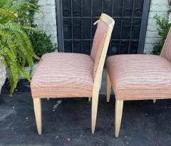 J Robert Scott Art Deco Style Sally Sirkin Lewis J Robert Scott Slipper Chairs a Pair - 2067861