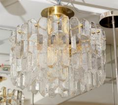 J T Kalmar Exceptional Kalmar Ice Crystal Flush Mount Chandelier - 139512