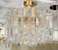 J T Kalmar Exceptional Kalmar Ice Crystal Flush Mount Chandelier - 139524