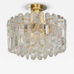 J T Kalmar Exceptional Kalmar Ice Crystal Flush Mount Chandelier - 140141