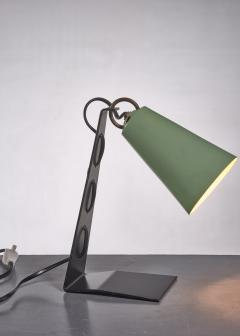 J T Kalmar Kalmar black and green metal table lamp - 1735210