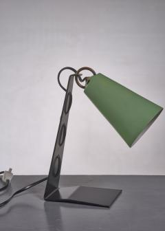 J T Kalmar Kalmar black and green metal table lamp - 1735211
