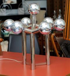 J T Kalmar Monumental Pair of Kalmar Chrome Table Lamps Vienna - 420226