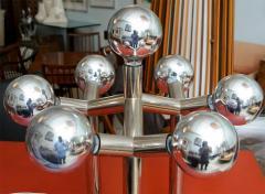 J T Kalmar Monumental Pair of Kalmar Chrome Table Lamps Vienna - 420227