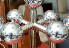 J T Kalmar Monumental Pair of Kalmar Chrome Table Lamps Vienna - 420230