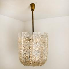 J T Kalmar Pair of J T Kalmar Glass and Brass Basket Chandeliers Austria 1950 - 1195035