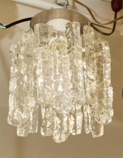 J T Kalmar Petite Kalmar Ice Glass Flush Mounted Pendant - 159877