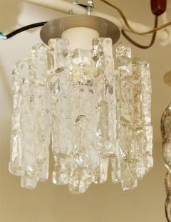 J T Kalmar Petite Kalmar Ice Glass Flush Mounted Pendant - 159878