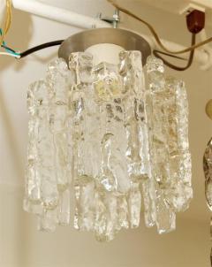 J T Kalmar Petite Kalmar Ice Glass Flush Mounted Pendant - 159879