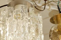 J T Kalmar Petite Kalmar Ice Glass Flush Mounted Pendant - 159880