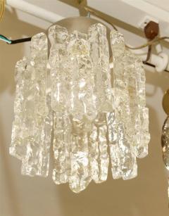 J T Kalmar Petite Kalmar Ice Glass Flush Mounted Pendant - 159881