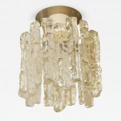 J T Kalmar Petite Kalmar Ice Glass Flush Mounted Pendant - 188490