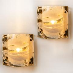 J T Kalmar Set of Eight J T Kalmar Murano Glass Brass Light Fixtures Austria 1960 - 1194945