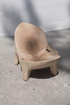 J rg Pietschmann Unique Ash Sculpted Chair by J rg Pietschmann - 766797