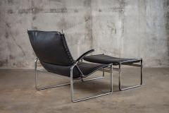 J rgen Kastholm Preben Fabricius FABRICIUS AND KASTHOLM LOUNGE CHAIR AND OTTOMAN - 1052980