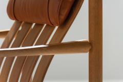 J rgen Nilsson Pair of Handmade Oak Lounge Chairs by J rgen Nilsson Denmark 1964 - 1079414