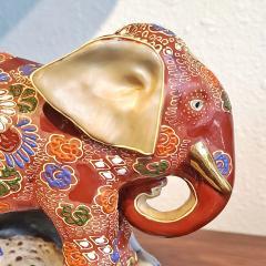 JAPANESE KUTANI SATSUMA MORIAGE ELEPHANT BOOKENDS - 2123961