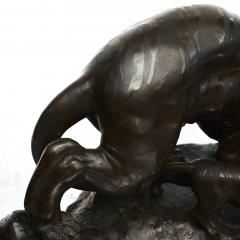 JAPANESE MEIJI PERIOD BRONZE TIGER WITH CUB - 1988517