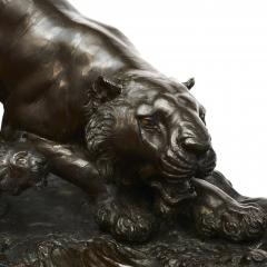 JAPANESE MEIJI PERIOD BRONZE TIGER WITH CUB - 1988519
