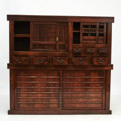 JAPANESE TANSU STORAGE CABINET WITH SLIDING DOORS MEIJI PERIODEN - 2056229