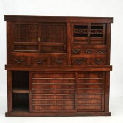 JAPANESE TANSU STORAGE CABINET WITH SLIDING DOORS MEIJI PERIODEN - 2056233
