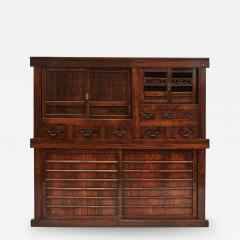 JAPANESE TANSU STORAGE CABINET WITH SLIDING DOORS MEIJI PERIODEN - 2059976